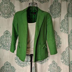 Talbots green blazer 4 Petite